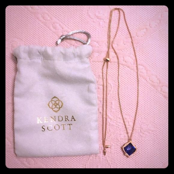 Kendra Scott rose gold pendant